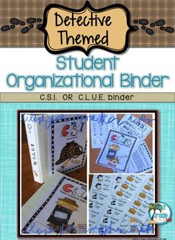 Student Binder, Detective Themed editable