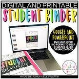 Student Binder | Digital and Printable | Student Planner | Editable | Google