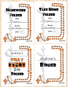 Student Binder & Folder Covers