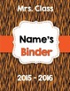 Student Binder / Folder Covers - Editable