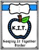 """Student Binder """"K.I.T."""" Freebie"""