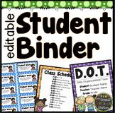 STUDENT BINDER OR TAKE HOME FOLDER {DOTS CLASSROOM DECOR}