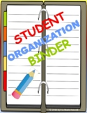 Student Binder Organization with Rubric Worksheet