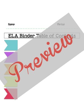 Student Binder System