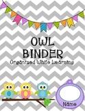 Student Binder Owl Theme