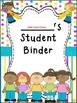 Student Binder & Spines ~ Bright Polka Dots & Stripes ~ Editable