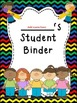 Student Binder & Spines ~ Chevron Rainbow Print w/ black b
