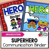 Student Binder: Superhero Themed Communication Binder