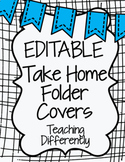 EDITABLE Student Binder & Homework Folder Covers {Banners Theme}