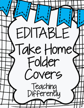 editable student binder homework folder covers banners theme
