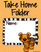 Student Binder & Take Home Folder Covers - Zoo Theme