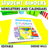 Student Binder Covers, Newsletter Templates, and Calendars