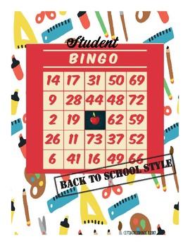 Student Bingo: Back to School Style!