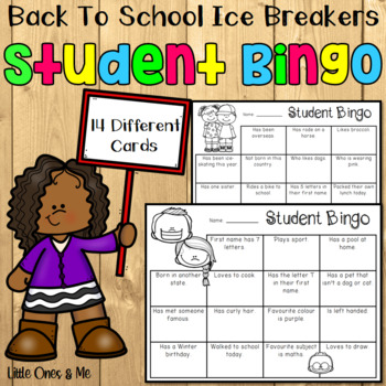 Student Bingo Back to school ice-breakers