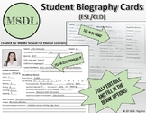Student Biography Cards (ESL/CLD)