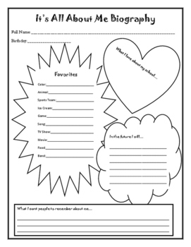 Student Biography Page