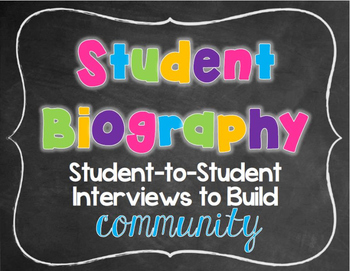 Student Biography {Ready Made and NO PREP}