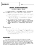 Student Biography Writing Project
