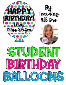 Student Birthday Balloons