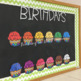 Student Birthday Board Cupcakes