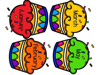 Student Birthday Board Cupcakes