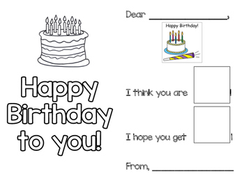 Student Birthday Card - Special Education