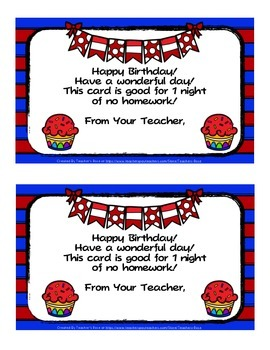 Student Birthday Cards