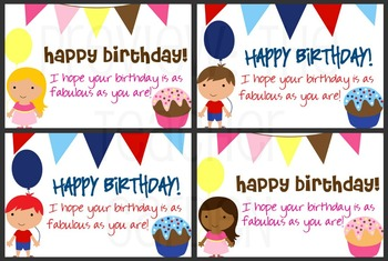Student Birthday Cards Print Sign Give By Innovate Motivate Educate