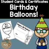 Student Birthday Cards and Certificates
