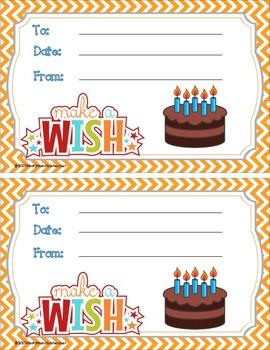 Student Birthday Certificates