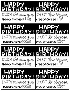 Student Birthday Coupon! *Freebie*