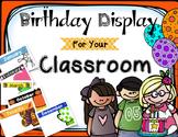 Student Birthday Display