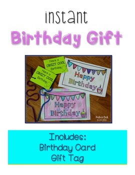 Student Birthday Gift