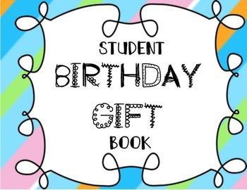 Student Birthday Gift Book