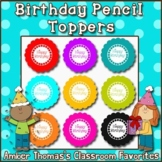 Student Birthday Gift:  Flower Pencil Toppers {English and Spanish Versions}