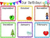 Student Birthday List