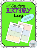 Student Birthday Log