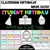 Student Birthday Nametags // Cards // Gift Tags