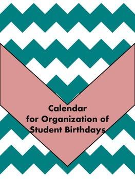 Student Birthday Organization (3 formats)