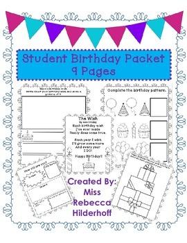 Student Birthday Packet