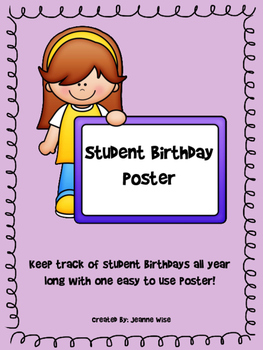 Student Birthday Poster