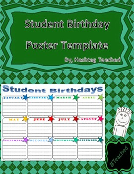 Student Birthday Poster Template