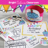 Student Birthday Printable Set & Decor  {Bright Calico Classroom}