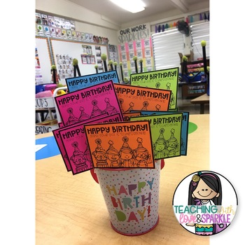Student Birthday Tags