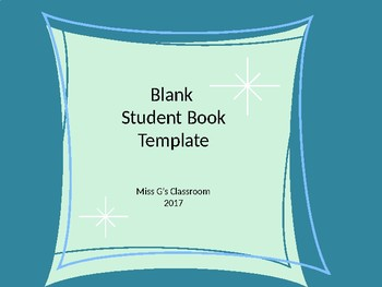 Student Blank Story Book Template