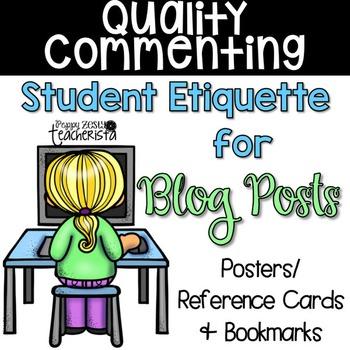 Student Blog Post Commenting Etiquette [Kidblog]