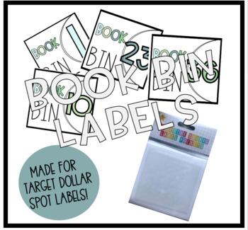 Student Book Bin Labels