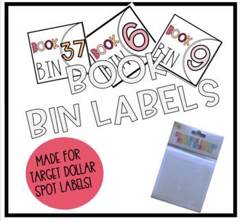Student Book Bin Labels (Warm Tones)