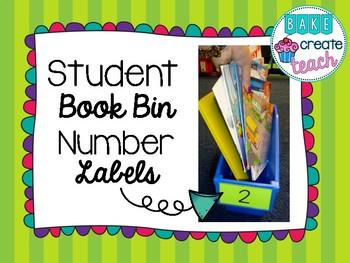 Student Book Bin Number Labels