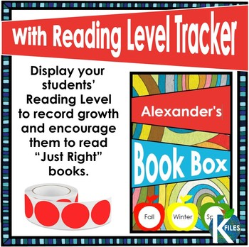 Student Book Box Labels with Reading Levels (Editable)